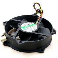 12v cpu soğutma fanı toptan satış-Yarı SUNON KDE1209PTVX 12 V 4.4 W 9 cm maglev bilgisayar kasası cpu soğutma fanı yuvarlak
