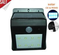 Wholesale Solar House Lamp - in stock 8 LEDS led solar light luminaria outdoor lamp garden light luz solar lights waterproof led solar lights para jardim house