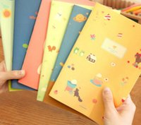 Wholesale- 1 Pz Cute Little Girl Scoiattolo Cat Bird Notebook Cartoon Paper Diario portatile Notepad Materiale scolastico H0615