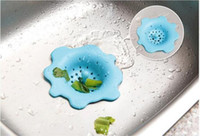 Flower Shape Silicone Sink Filter Banheiro Sucker Floor Drains Shower Hair Sewer Filtros Colanders Strainer Useful Kitchen Tool