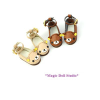 Wholesale Preppy Shoes - [RMG140] Free Shipping NeoBlythe Doll Shoes #Bear shoes with belt for Blythe Azone doll shoes for retail