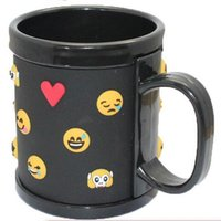Wholesale face mugs - PVC Mug Soft Silica Gel Emoji Crazy Face Practical 3D Anaglyph Expression Party Drinking Beer Cup Top Quality 10ct F