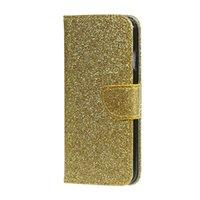 xperia mini tpu toptan satış-Glitter Bling Yıldız Cüzdan PU Deri Kılıf Huawei Nova Mate 9 Onur 8 P9 P8 LITE 2017 P10 ARTı Sony Xperia E5 XA X Mini Standı Kapak