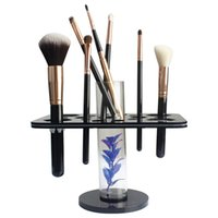 Sixplus Schwarz Kaufen -Sixplus 16 Löcher Schwarz Acryl Make-up Pinsel Rack Holder Storage Make-up Pinsel Comestic MakeupTools für Heimgebrauch oder Beauty Shoppe Organizer