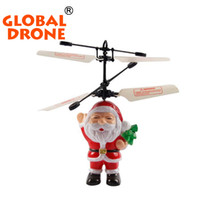 Wholesale Wholesale Rc Helicopters For Sale - Wholesale- Hot sale christmas gifts for kids rc fly toy 838 flying inductive christmas remote control 4CH helicopter santa claus rc drone