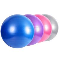 bola de masaje de yoga al por mayor-Bolas de yoga Engrosamiento A prueba de explosiones PVC Bodybuilding Balance Ball No tóxico Auxiliar de cuerpo entero Masaje Bola personalizable 18 9xb J