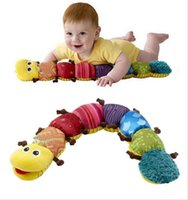 Wholesale musical soft toy - New Popular and Colorful Musical Inchworm Soft Lovely Developmental Baby Toy,Free shipping