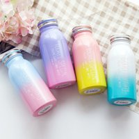 Wholesale Drink Bottles For Children - New 4 Color Gradient Color Vacuum Cup 350ml 304 Stainless Steel Insulation Cup Creative Water Bottle For Adults Children