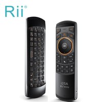 Wholesale Fly Air Mouse Russian - Rii i25A Russian Layout 2.4Ghz Wireless Mini Air Fly Mouse Keyboard with IR Remote Learning and Earphone Jack