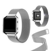 Fitbit Blaze Smart Watch Bandes Vente Metal Magnetic Closure Clasp Mesh Acier inoxydable Metal Replacement Band Bracelet Strap Retail Package