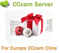 Wholesale Hd Dvb - 1 Year CCcam Europe 3 4 7 Clines Server HD 12 Months account for Spain UK Germany French Italy Poland Satellite Decoder with AV Cable