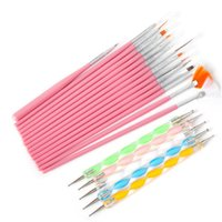 Wholesale Nail Art Pen Polish Brush - Hot Sale 20 Pcs Nail Art Brushes Design Set Dotting Painting Drawing Polish Brush Pen Tools