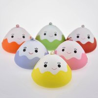 Wholesale Japan Gift Toy - Kawaii Japan Face Mochi Squishy Slow Rising Jumbo Rice Ball Keychain Phone Straps Pendant Soft Scented Bread Kid Toy Fun Gift