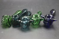Best Selling Colorful Smoking Blown Glass Hand Pipes À petit prix Pyrex Glass Tobacco Spoon Pipes Unique Pot Pipes Dry Herb Smoking Pieces