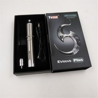 Wholesale Metal Plastic Pen - Yocan Evolve Plus Kit 1100mAh Battery Wax Vaporizer Whit Quartz Dual Coil Stealth Dab Vape Pen