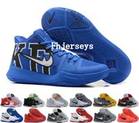 Wholesale Blue Ball Game - 2017 New Kyrie 3 Basketball Shoes Men Signature Game Crossover Huarache Cavs Kyrie Irving 3 III Basket ball Sports Sneakers Size 40-46
