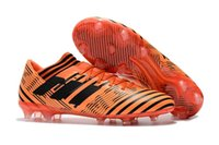 Orange Original Messi Soccer Cleats Nemeziz 17.1 360Agility Gold Black White Soccer Shoes Melhor ACE 17.1 Messi Outdoor Mens Botas de futebol
