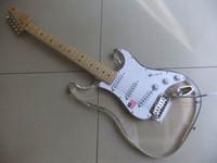 Wholesale Electric Guitar Plexiglass - wholesale New Arrival Acrylic body electric guitar made of Plexiglass STR model 110628