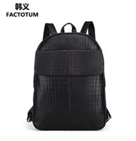 Wholesale Han Edition Leather Backpack - direct selling man bag simple stone grain leather han edition man backpacking style man backpack the vintage brand motorcycle travel bag