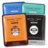 Wholesale Animal Masks Panda - 2017 NEW BIOAQUA Tiger Panda Sheep Dog Shape Animal Face Mask Moisturizing Oil Control Hydrating Nourishing Facial Masks Free shipping