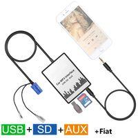 Wholesale fiat doblo - Car MP3 Player SD USB CD AUX Input Audio Adapter Digital CD Changer for Fiat Bravio Coupe Croma Ducato Doblo Idea Panda