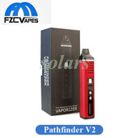 Wholesale Starter Kit Lcd - 100% Orginal Authentic Pathfinder V2 Herbal Starter Kit with LCD Display 2200mAh Dry Herb Vaporizer Temperature Control Vape Pen E Cigarette
