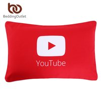 Wholesale Hotel Bedding Sale - Wholesale- BeddingOutlet YouTube Pillowcase Qualified Red Printed Pillow Covers for Home Soft Bedding 50cmx75cm On Sale
