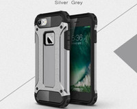 Wholesale Heavy Duty Pouch - Slim Armor Hybrid Tough Case Heavy Duty Back Cover For iphone X 5 5s 6 7 8 Plus Shockproof For samsung Galaxy j7 2016 S6 edge defender Case