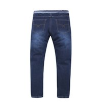Wholesale Trouser Material For Men - Wholesale-Kingbright Plus Size for Winter with Warm Fleece Mens Jeans Top Quality Stretch Material Denim Jean Big Pants Trouser Size 28-48