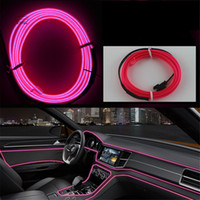 Купить Свет Ламповый Авто-DIY украшения 12V Auto Car Interior LED Neon Light EL Wire Rope Tube Line Party Weinging Decal 10 Цвета 3 метра