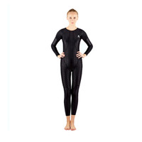 Wholesale Women S Diving Suits - HXBY Women Girls fastskin Waterproof Sport Competition Racing Spandex Body suit Swimming Wetsuits Diving Suit Free Shipping-554