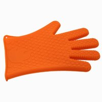 Wholesale Silicone Heat Insulation Glove - Heat Gloves Holder Insulation Barbecue Silicone Kitchen Oven Microwave Non-slip Gloves Pot Kitchen Tools BBQ Grilling Cooking BBQ
