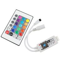 Wholesale Led Rgb Controller Wifi - DC12V LED MIni WIFI RGBW Controller with 24key remote IOS Android Mobile Phone wireless for RGB   RGBW LED Strip