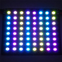 paneles led flexibles al por mayor-8 * 8 píxeles 64 píxeles 16x16 8x32 WS2812B Pantalla de panel programado LED flexible digital WS2811 IC individualmente direccionable RGB 5V