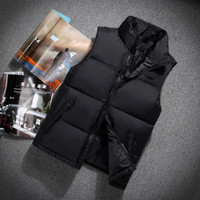 Wholesale Red Down Vest - Top Quality Winter men north Down vest Camping Windproof Ski Warm Down Coat Outdoor Casual Hooded Sportswea vest 606