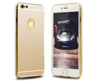 Wholesale Reflections Gold - For Iphone 7 Mirror Case S8 7 Plus 6S Plus Mirror Back S7 edge Shock-Absorption TPU Bumper Anti-Scratch Bright Reflection Protective Case