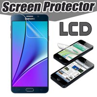 Wholesale Lcd Film Guard Cleaner - Transparent Clear LCD Screen Protector Film Guard AntSratch With Clean Cloth For Samsung Note 8 5 S8 S7 Edge Huawei P10 Xiaomi 6 LG G6