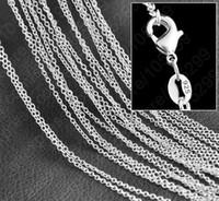 o geformte schmucksachen großhandel-20 teile / los Top verkauf 2mm 925 silber überzogener O runde form halskette kettenschmuck fit für hängende zubehörketten Schlüsselbeinkette 16-30 zoll