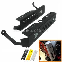 Wholesale Motorcycle Radiator Guards - New Black Motorcycle Aluminum Radiator Grille Side Cover Guard Protector For Yamaha MT 09 FZ 09 2013 2014 2015 2016