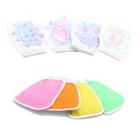 Wholesale Health Cloths - Handle Shower Bath Glove Sponge Brush Wash Scrubber Body Skin Health Cleaning Wash Cloth Towel Random Color