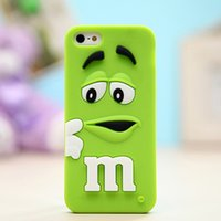 "Wholesale Wholesale Black Beans - Phone Cases For iPhone 6S 7 plus 3D Cartoon Silicone M&M""s Fragrance Chocolate Rainbow Beans Cell Phone Cases Cover"