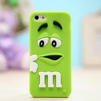 étui iphone 3 chocolat achat en gros de-Cas de téléphone pour iPhone 6S 7 plus 3D Cartoon Silicone MM