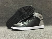 Wholesale Size 12 Mens Basketball - Wholesale new AIR Retro 1 High OG Shadow black Grey men basketball shoes mens sports shoes trainers sneakers size 7-12