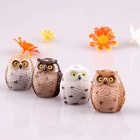 Wholesale owl carvings resale online - Zakka Series Stage Property Mini Resin Accessory Owl Fittings Of A Machine Garden Decoration Arts And Crafts Micro Landscape zw H R
