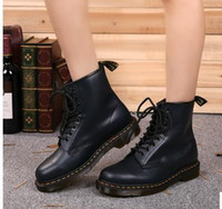 Wholesale dr lights - Newest leather boots Winter ankle Style Dr. Genuine Leather Martens Boots Shoes Men&Women Dr Designer waterproof Boots with case