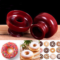 Wholesale Dessert Maker - New Donut Maker Cutter Mold Fondant Cake Bread Desserts Bakery Mould DIY Baking Tool Free Shipping