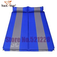 Wholesale Inflatable Bbq - Wholesale- 2 persons automatic inflatable cushion self inflating mattresss moisture-proof beach fishing outdoor camping Mat park BBQ pad