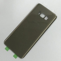 Wholesale Housing Panel - For Samsung Galaxy S8   S8+   S8 Plus G950 G955 Back Housing Glass Panel Cover Battery Door With Adhesive Sticker