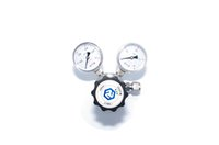 Wholesale R11 single stage High pressure stainless steel L quot NPT with two gauges natural helium nitrogen co2 Gas Pressure Regulator
