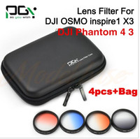 Wholesale Inspired Case - PGY DJI inspire 1 DJI OSMO DJI Phantom 4 3 Professional Camera Lens Filter Graduated color filter Bule Red Grey Orange case bag